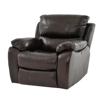 Mack Brown Leather Power Recliner