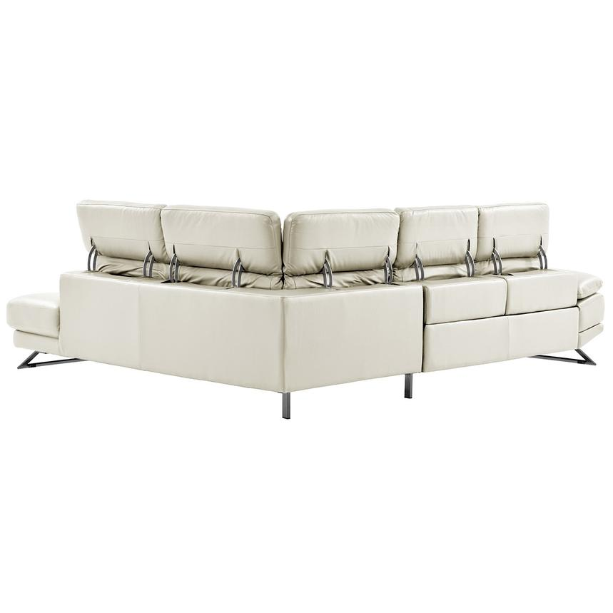 Toronto White Leather Power Reclining Sofa w/Right Chaise  alternate image, 3 of 11 images.
