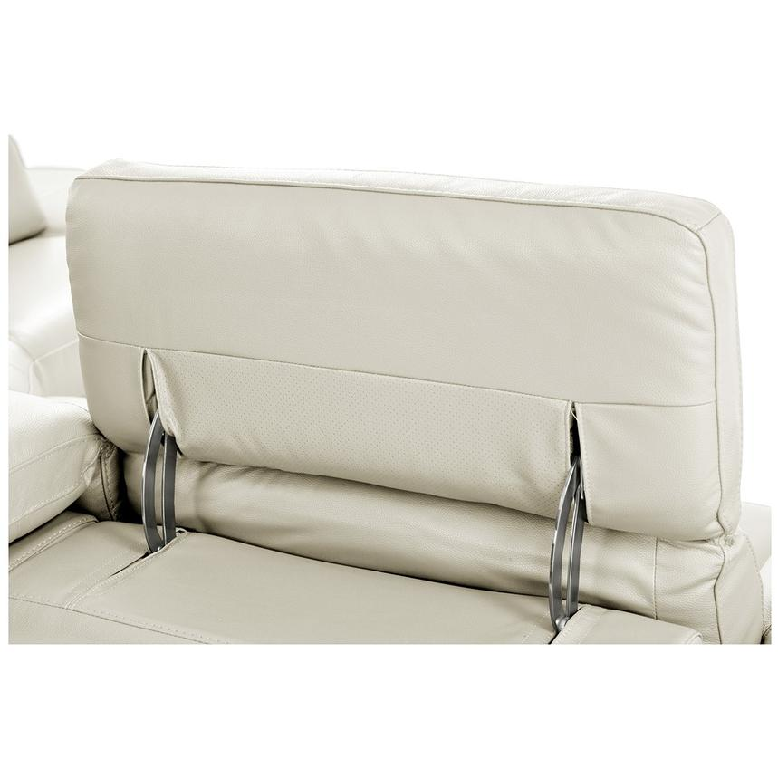 Toronto White Leather Power Reclining Sofa w/Right Chaise  alternate image, 8 of 11 images.