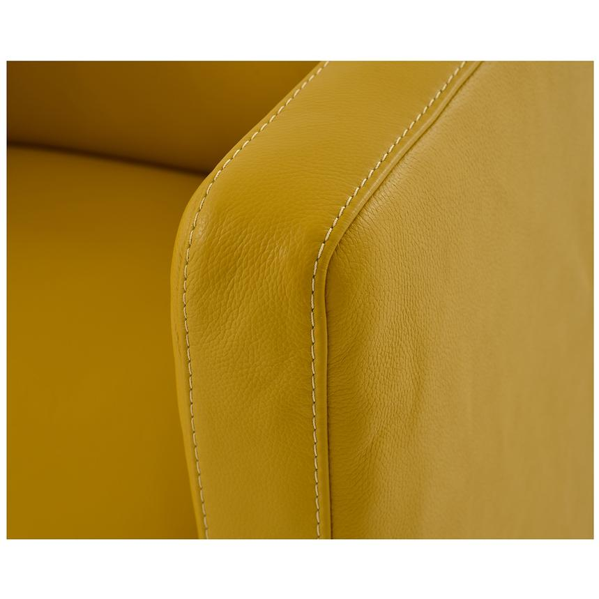 Cute Yellow Leather Swivel Chair  alternate image, 6 of 6 images.
