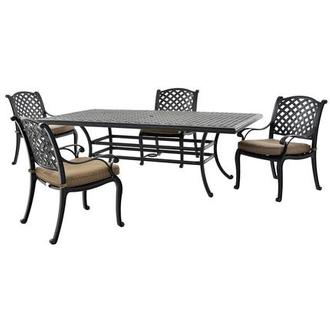 Castle Rock Brown 5-Piece Patio Set