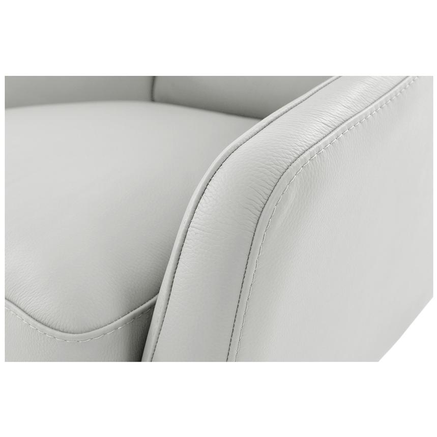 Puella White Leather Accent Chair  alternate image, 5 of 6 images.