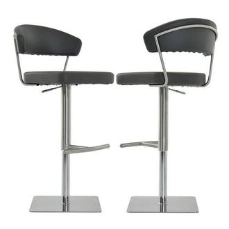Bold Gray Adjustable Stool