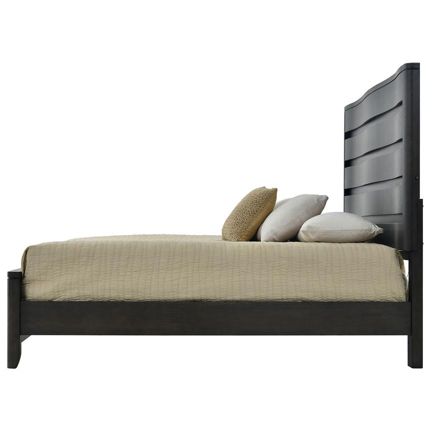 Contour Gray King Panel Bed El Dorado Furniture
