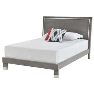 Venezia Gray Queen Platform Bed