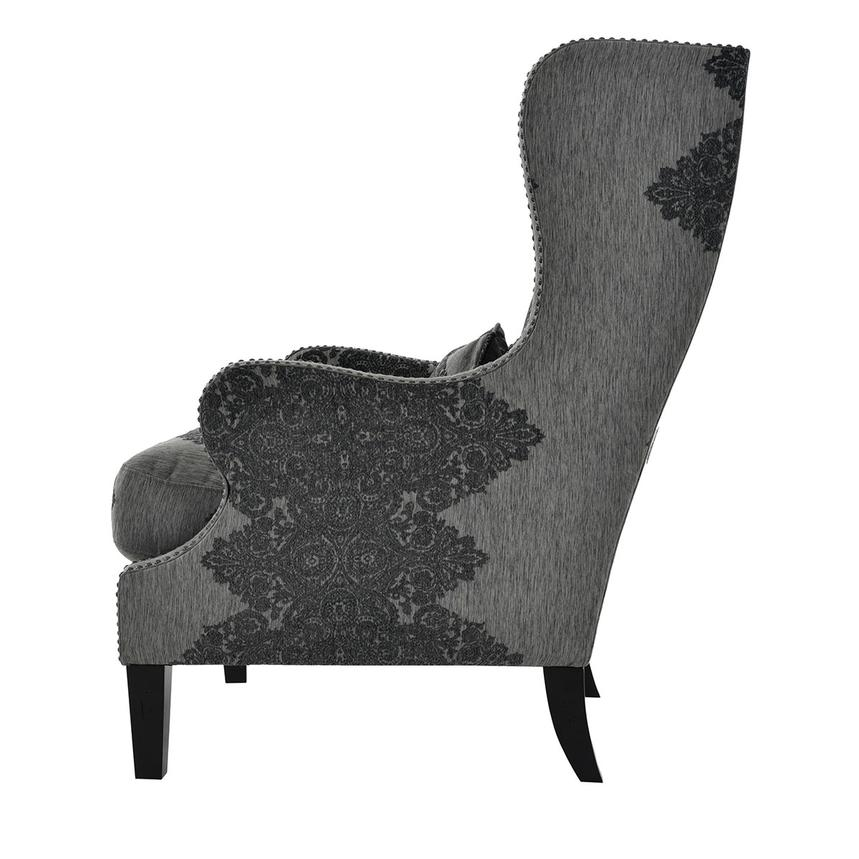 Sophia Gray Accent Chair  alternate image, 4 of 7 images.