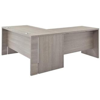 Tivo Gray L-Shaped Desk Made in Italy