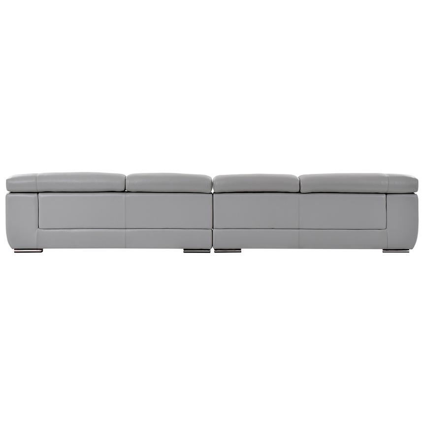 Grace Light Gray Oversized Leather Sofa  alternate image, 4 of 7 images.