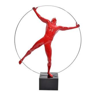 Ring Man Red Sculpture