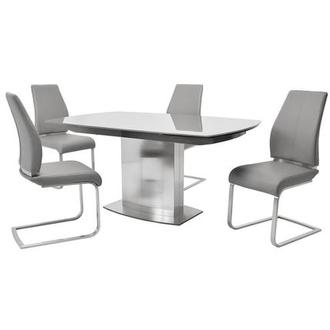 Mavis/Maday Gray 5-Piece Dining Set