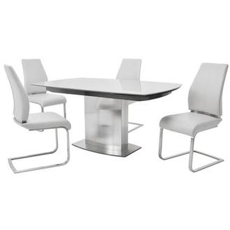 Mavis/Maday White 5-Piece Formal Dining Set