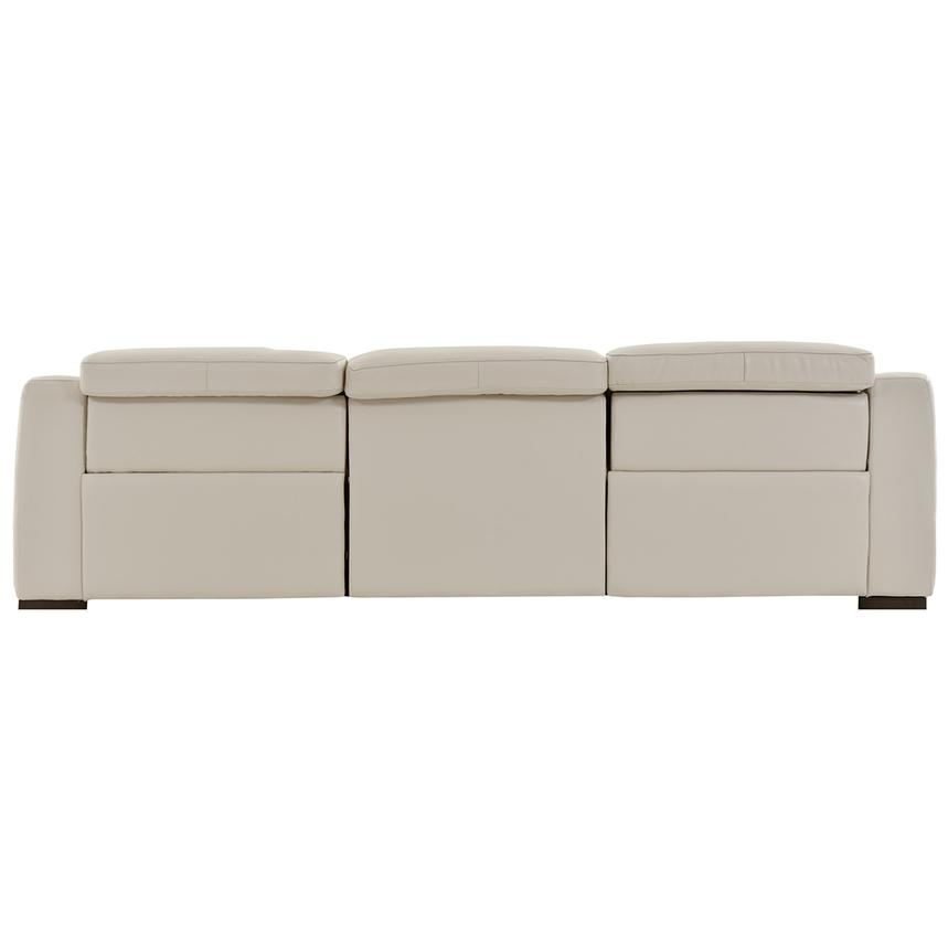 Gian Marco Cream Oversized Leather Sofa  alternate image, 4 of 6 images.