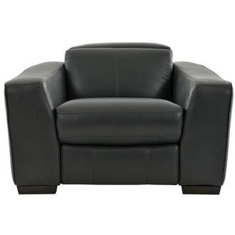 Jay Dark Gray Leather Power Recliner