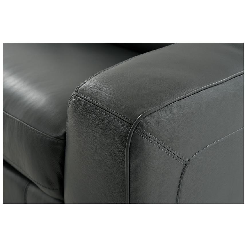 Jay Dark Gray Power Motion Leather Recliner  alternate image, 5 of 6 images.