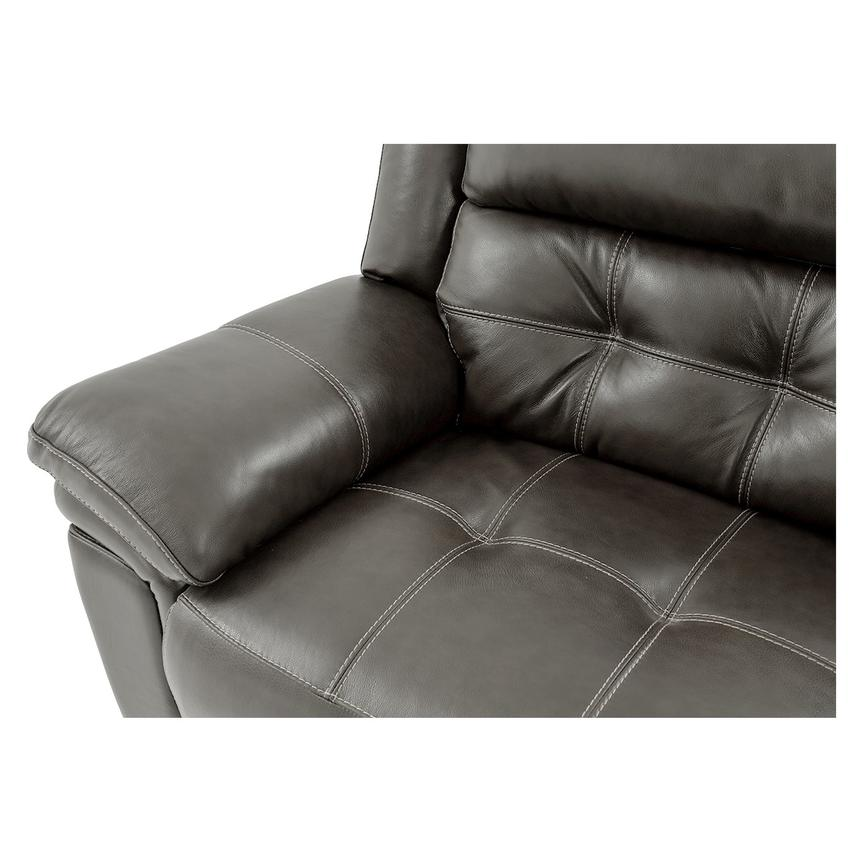Stallion Gray Leather Power Reclining Sofa  alternate image, 5 of 10 images.