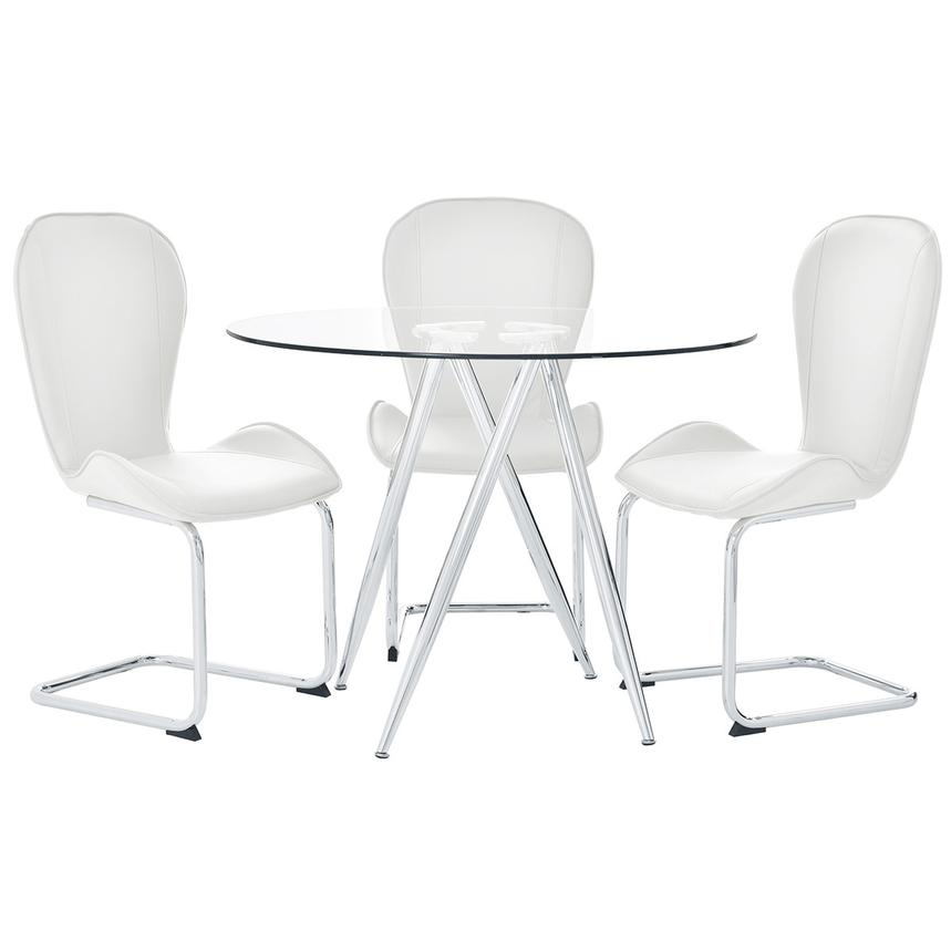 Latika White 4-Piece Dining Set  main image, 1 of 10 images.