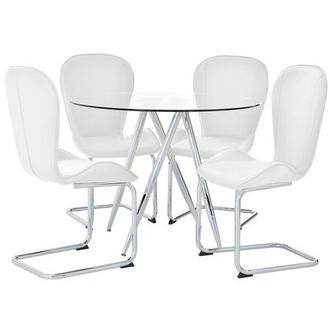 Latika White 5-Piece Dining Set