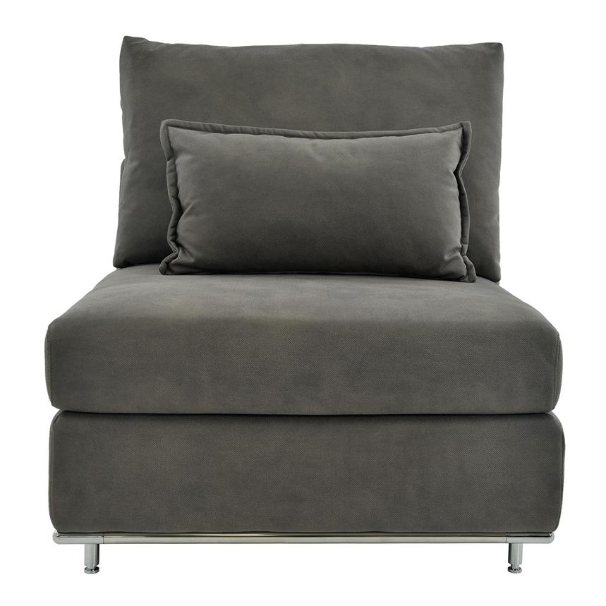 Grigio Gray Armless Chair  main image, 1 of 8 images.