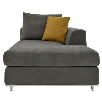 Grigio Gray Right Chaise