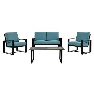 Almalfi Blue 4 Piece Patio Set