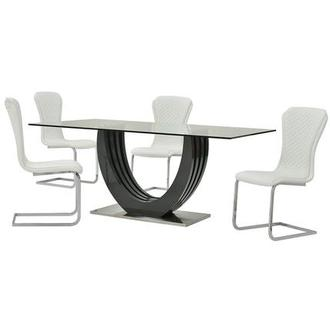 Rose White 5-Piece Casual Dining Set