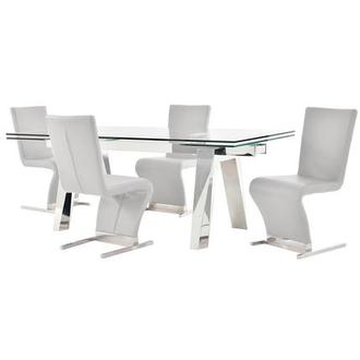 Madox/Zoey White 5-Piece Formal Dining Set