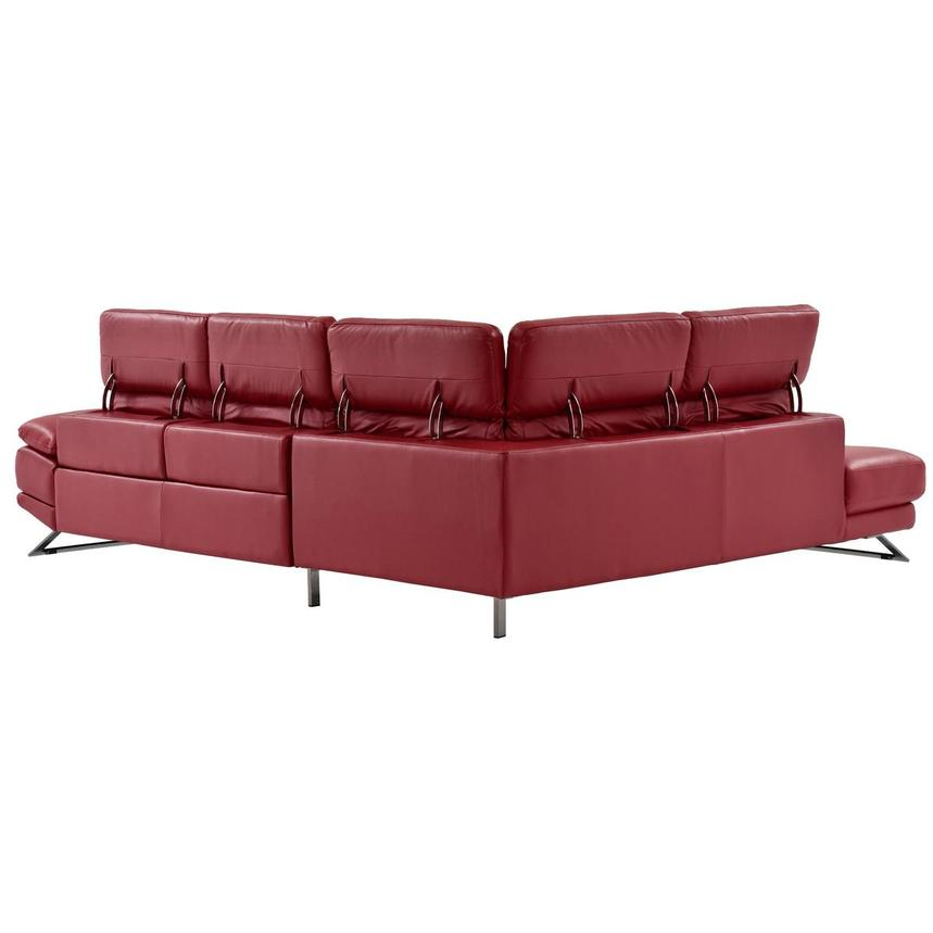 Toronto Red Leather Power Reclining Sofa w/Left Chaise  alternate image, 5 of 13 images.