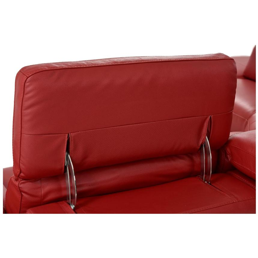 Toronto Red Leather Power Reclining Sofa w/Left Chaise  alternate image, 10 of 13 images.