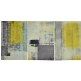 Jaune Yellow Set of 3 Acrylic Wall Art