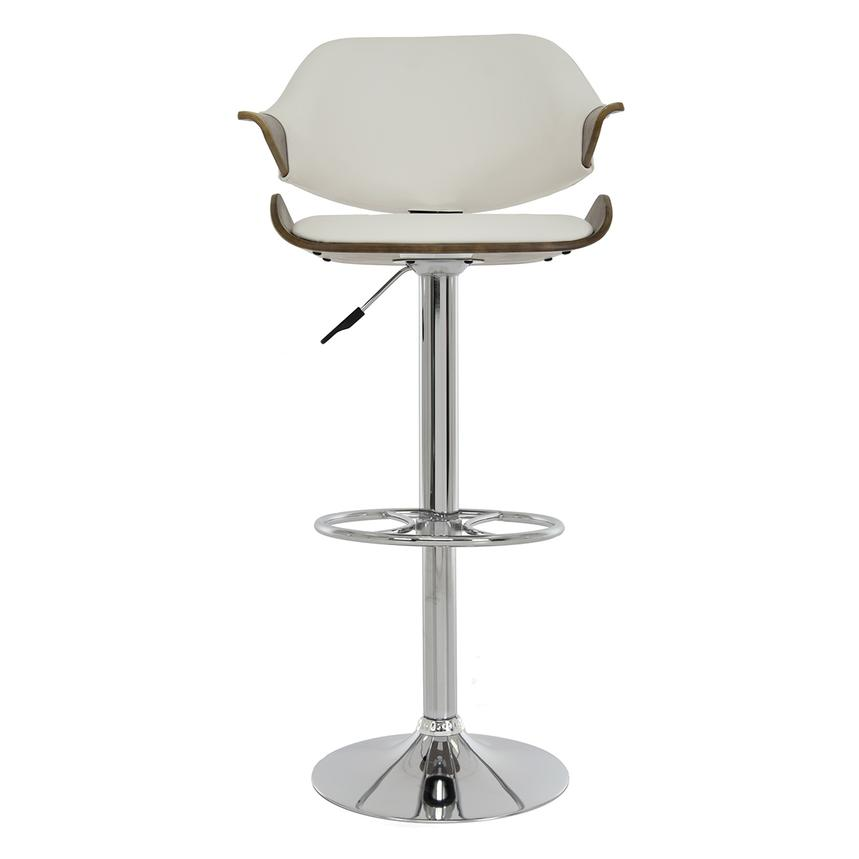 Chia White Adjustable Stool  main image, 1 of 9 images.