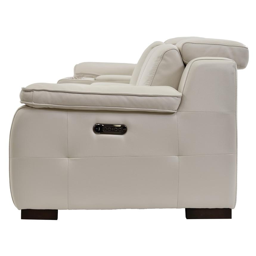 Gian Marco Cream Home Theater Leather Seating  alternate image, 4 of 8 images.