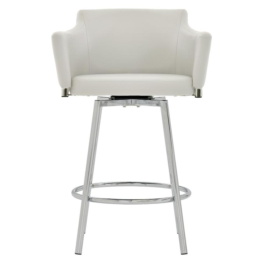Dusty White Swivel Counter Stool  main image, 1 of 7 images.