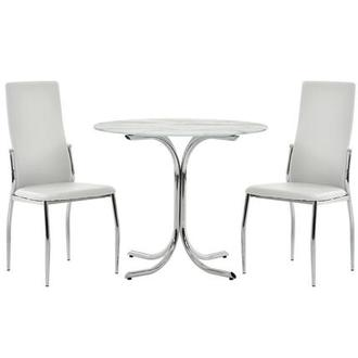 Dorothy/Luna White 3-Piece Casual Dining Set