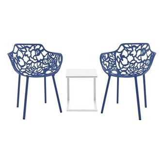 Mykonos/Rosie Blue 3-Piece Patio Set