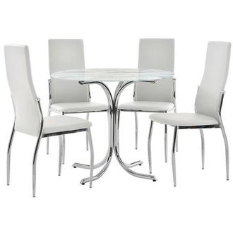Dorothy/Luna White 5-Piece Casual Dining Set