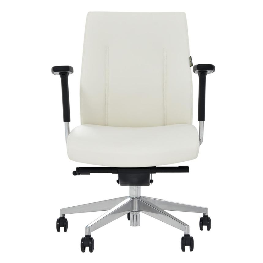 Regulo White Low Back Desk Chair  main image, 1 of 7 images.