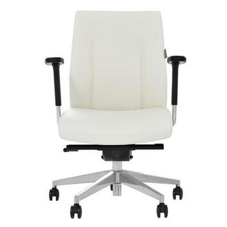 Regulo White Low Back Desk Chair