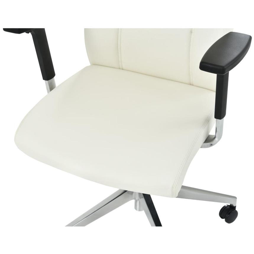 Regulo White Low Back Desk Chair  alternate image, 6 of 7 images.