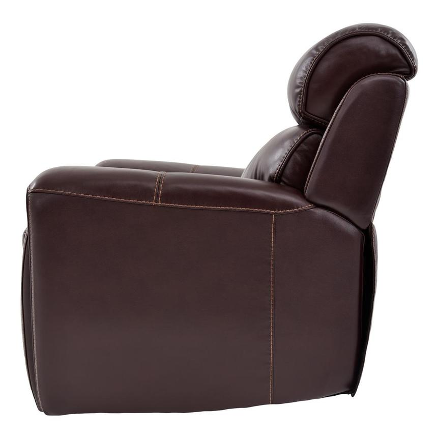 Napa Power Motion Leather Recliner  alternate image, 4 of 7 images.