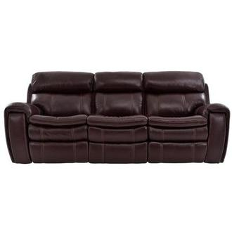 Napa Burgundy Leather Power Reclining Sofa