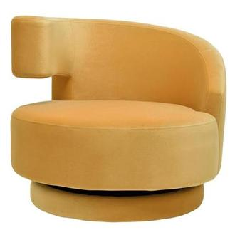 Okru Dark Yellow Swivel Chair