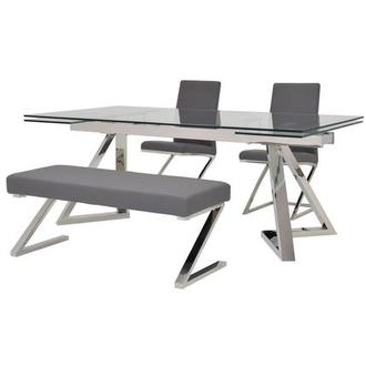 Suri/Jade Gray 4-Piece Formal Dining Set