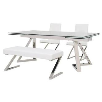 Suri/Jade White 4-Piece Dining Set
