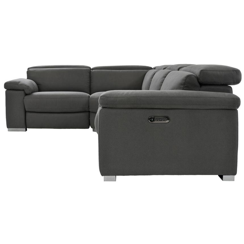 Karly Dark Gray Power Reclining Sectional  alternate image, 3 of 8 images.