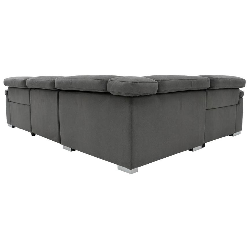 Karly Dark Gray Power Reclining Sectional  alternate image, 4 of 8 images.