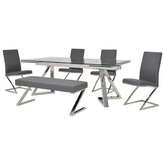 Suri/Jade Gray 6-Piece Formal Dining Set