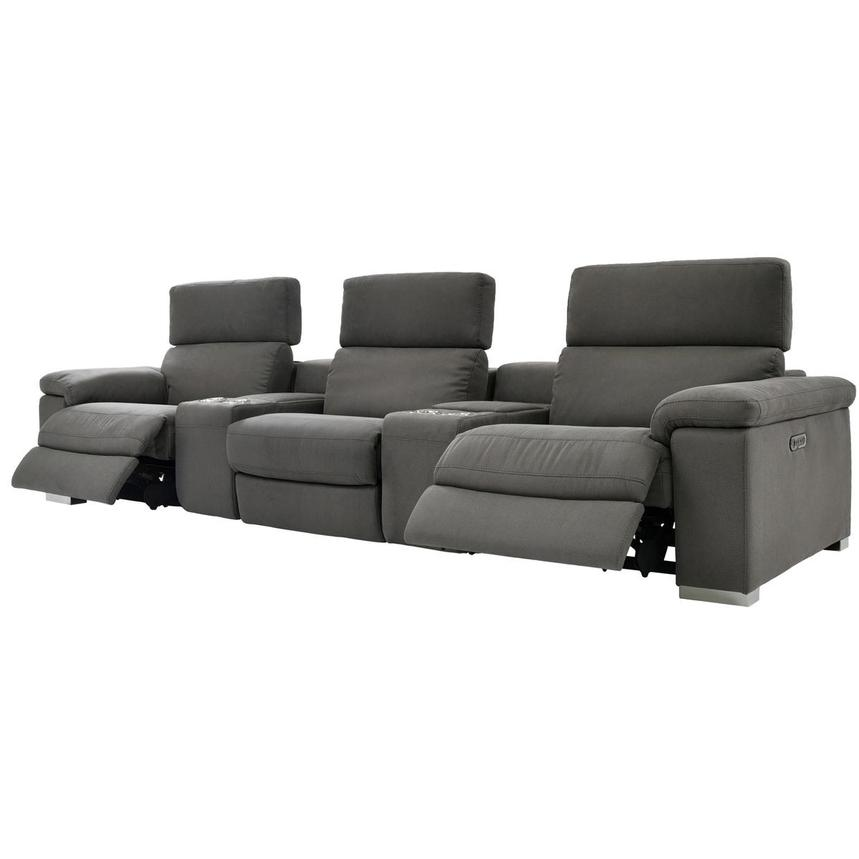 Karly Dark Gray Home Theater Seating  alternate image, 3 of 10 images.