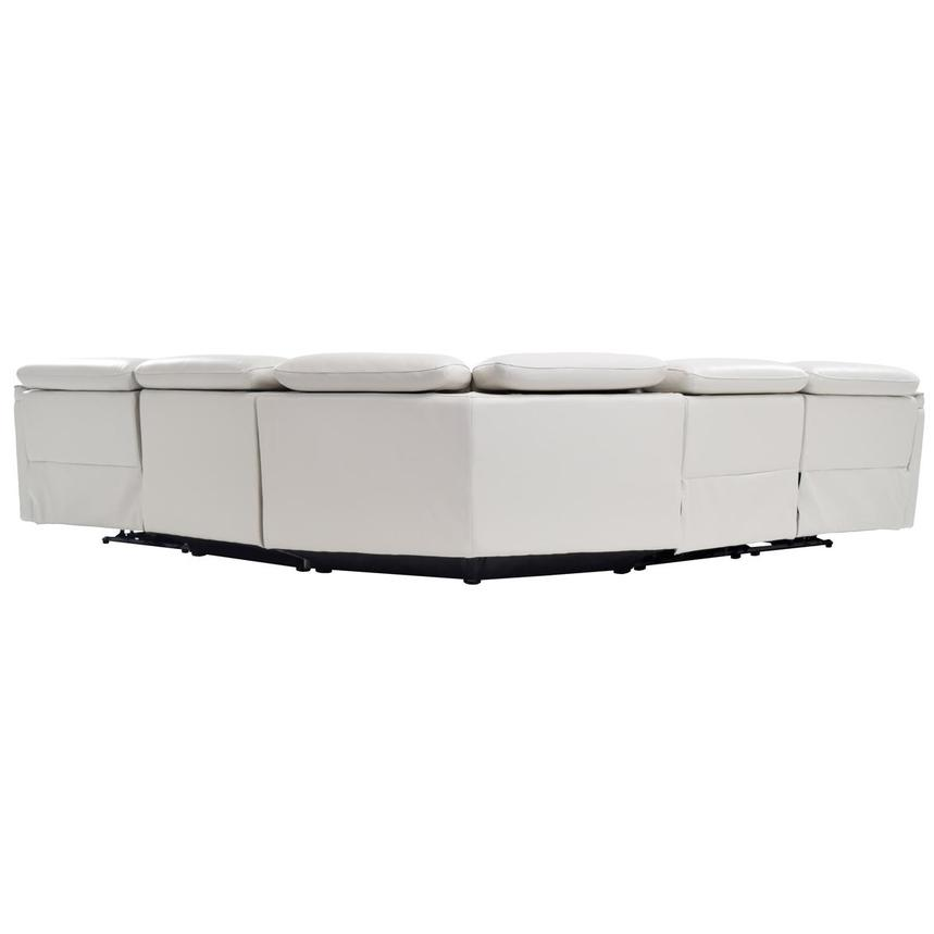 Austin White Leather Power Reclining Sectional  alternate image, 4 of 7 images.