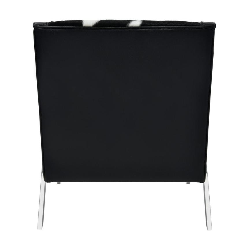 Krava Black Leather Accent Chair w/Ottoman  alternate image, 5 of 9 images.