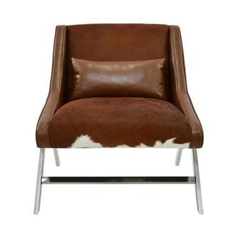Krava Brown Leather Accent Chair
